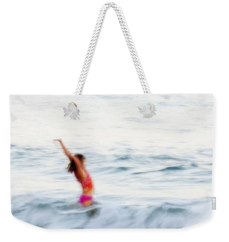 Girl Weekender Tote Bag featuring the photograph Last Days Of Summer by Carol Leigh