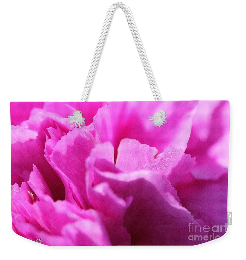 Mccombie Weekender Tote Bag featuring the painting Lavender Carnation by J McCombie