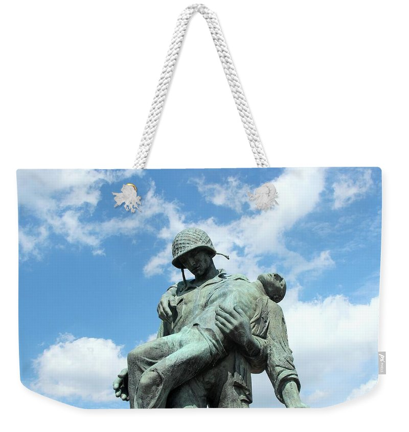 Liberartion Weekender Tote Bag featuring the photograph Liberation Monument by Allen Beatty