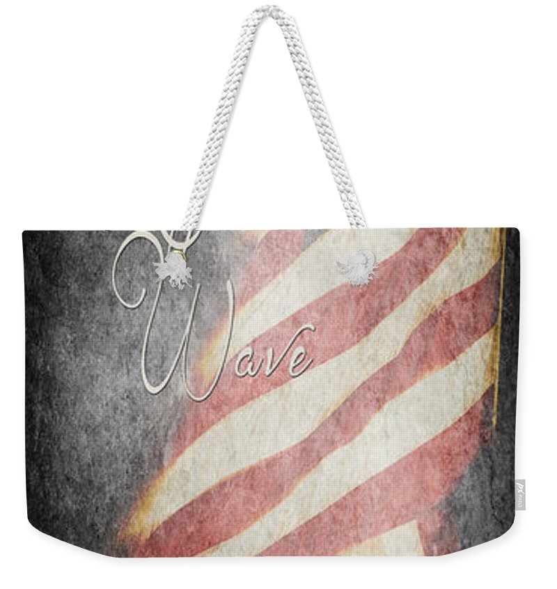 American Weekender Tote Bag featuring the photograph Long May She Wave by Pam Holdsworth
