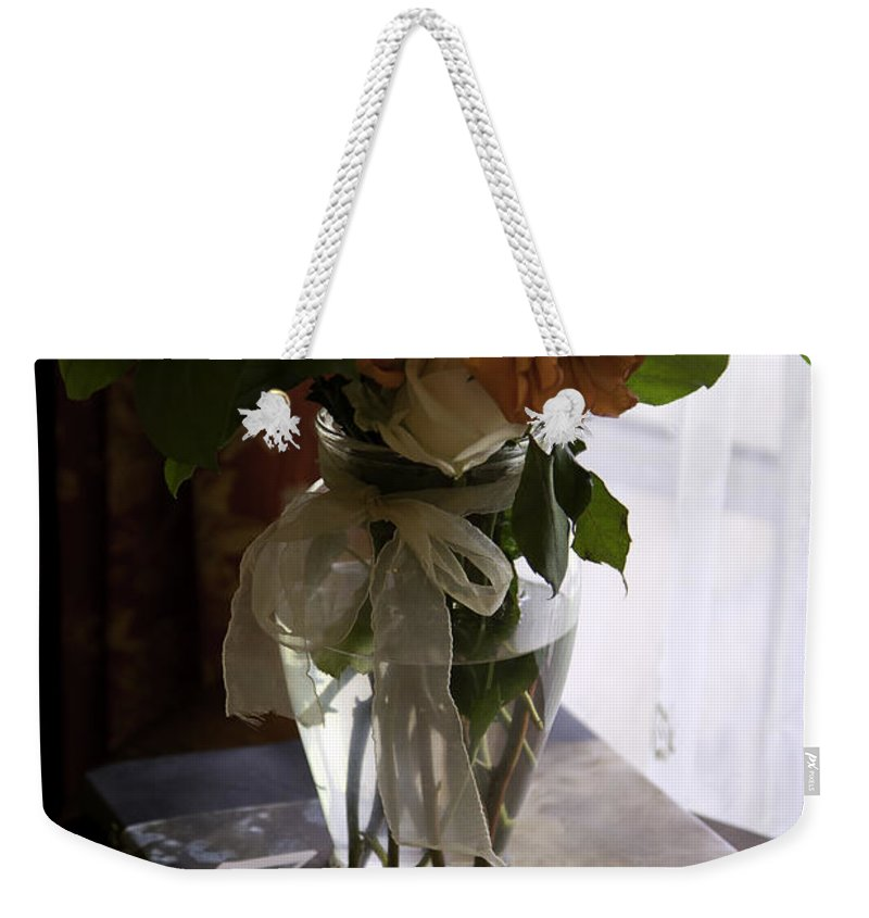 Flowers Weekender Tote Bag featuring the photograph Still Life by Madeline Ellis
