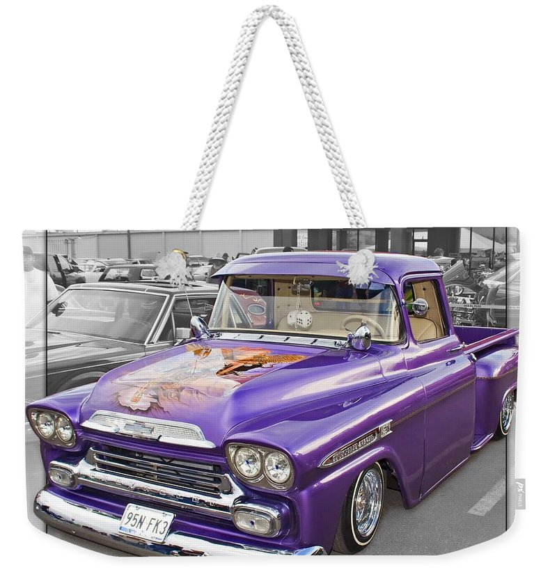 Lowriders.cars Weekender Tote Bag featuring the photograph Lowrider by Walter Herrit