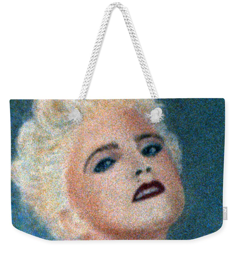 Madonna Weekender Tote Bag featuring the pastel Madonna The Early Years by Bill Holkham