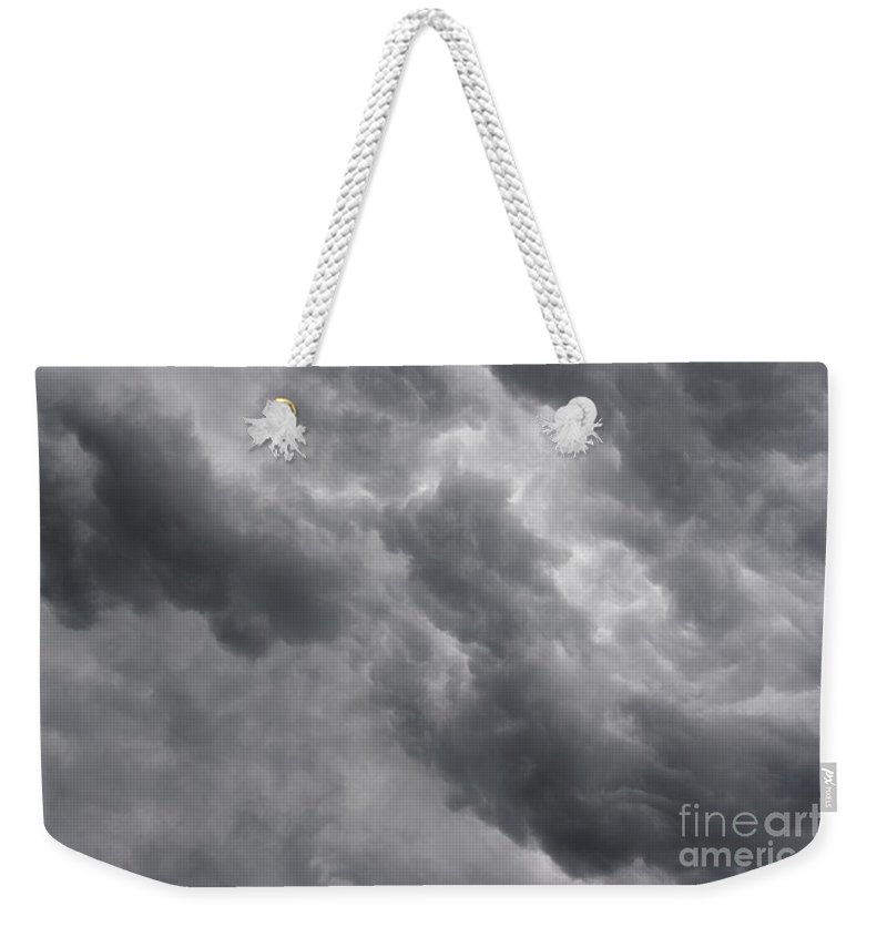 Cloud Weekender Tote Bag featuring the photograph Masses Of Dark Clouds by Michal Boubin