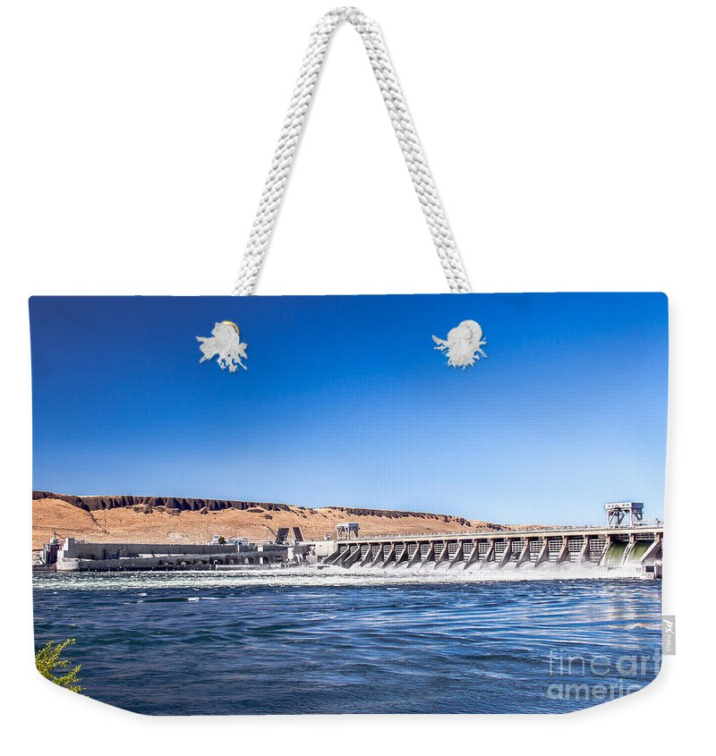 Dam Weekender Tote Bag featuring the photograph Mcnary Dam by Robert Bales