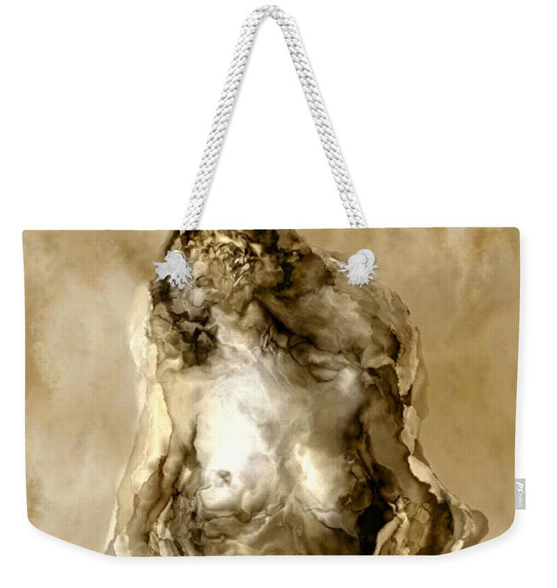 Nude Weekender Tote Bag featuring the photograph Melt by Kurt Van Wagner