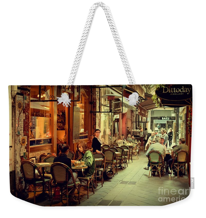 Al Fresco Dining Weekender Tote Bag featuring the photograph Memory Lane by Ray Warren