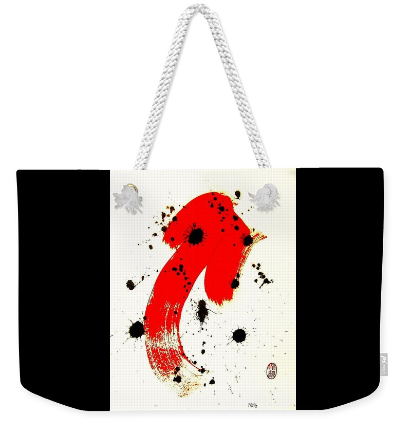 Original Weekender Tote Bag featuring the painting Mikado Rising by Roberto Prusso