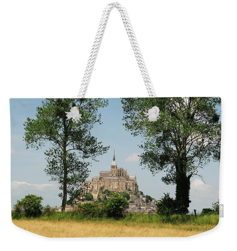 France Weekender Tote Bag featuring the photograph Mont St. Michel by Mary Ellen Mueller Legault