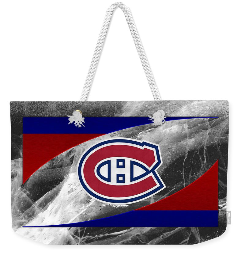 Canadiens Weekender Tote Bag featuring the photograph Montreal Canadiens by Joe Hamilton