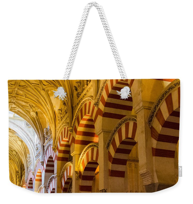 Cordoba Weekender Tote Bag featuring the photograph Mosque Cathedral Of Cordoba by Andrea Mazzocchetti