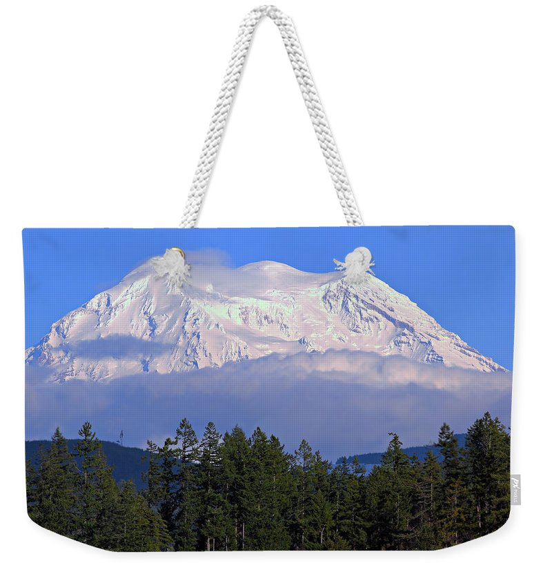 Outdoor Weekender Tote Bag featuring the photograph Mount Rainier by Paul Fell