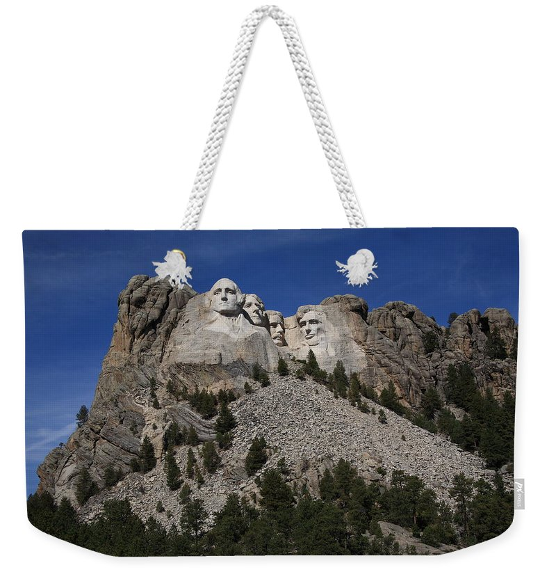Abe Weekender Tote Bag featuring the photograph Mount Rushmore by Frank Romeo