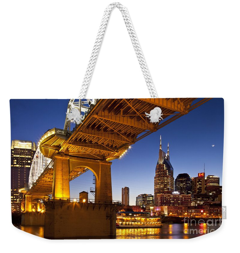 Nashville Weekender Tote Bag featuring the photograph Nashville Tennessee by Brian Jannsen