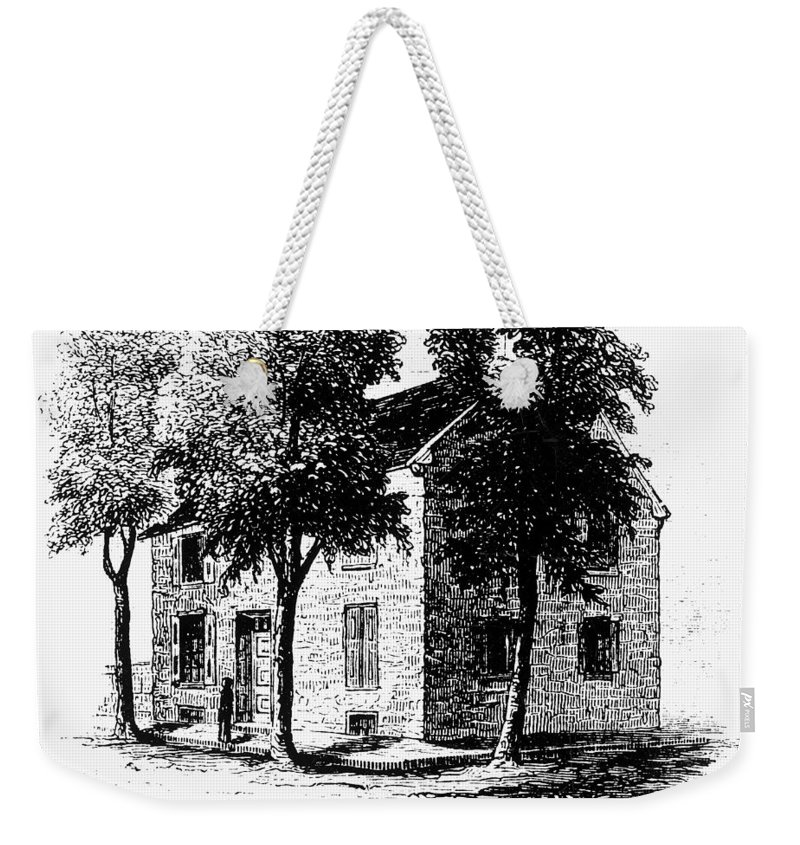 1777 Weekender Tote Bag featuring the painting New York Senate, 1777 by Granger