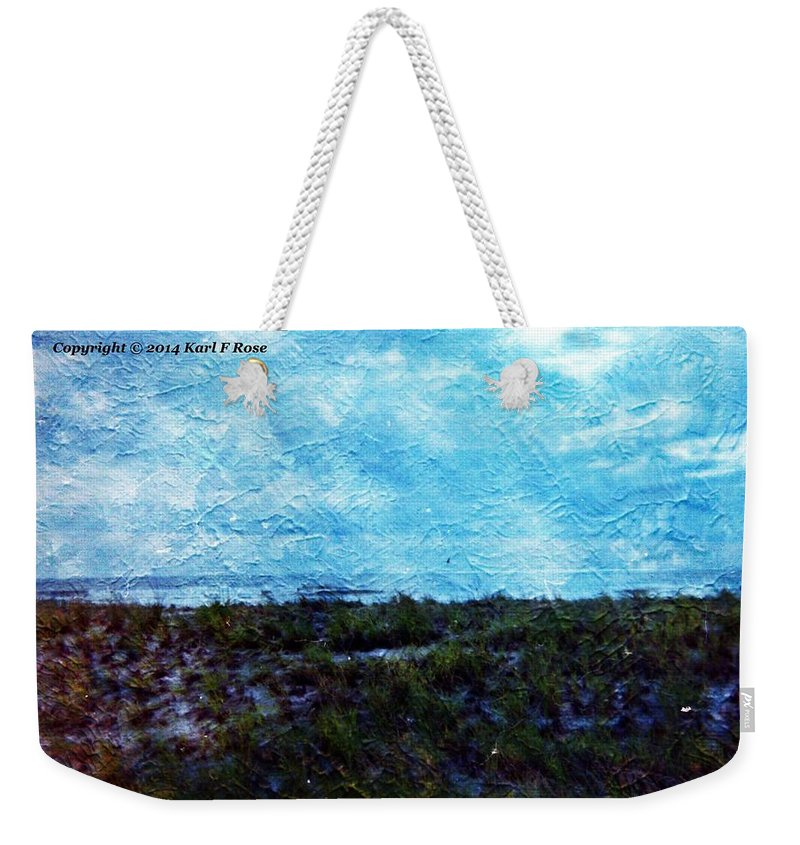 Nature Weekender Tote Bag featuring the photograph Ocean As A Painting by Karl Rose