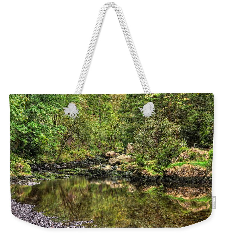 Wald Weekender Tote Bag featuring the pyrography Okertal by Steffen Gierok