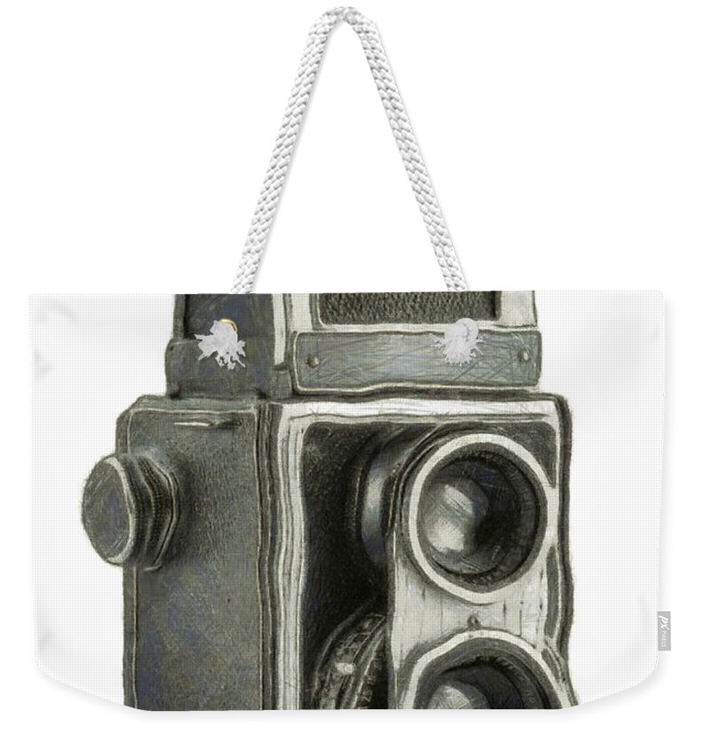 1940 Weekender Tote Bag featuring the digital art Old Still Camera by Michal Boubin