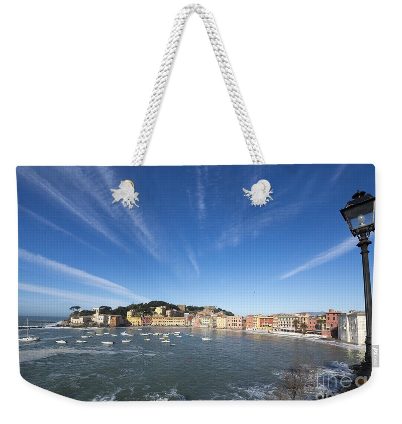 Village Weekender Tote Bag featuring the photograph Old Village Sestri Levante by Mats Silvan