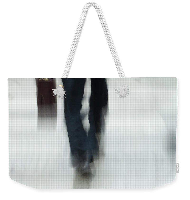 Step Weekender Tote Bag featuring the photograph On The Go by Karol Livote