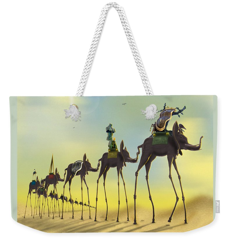 Surrealism Weekender Tote Bag featuring the photograph On The Move by Mike McGlothlen