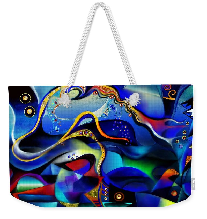 Orpheus And Eurydike Weekender Tote Bag featuring the painting Orpheus And Eurydike by Wolfgang Schweizer