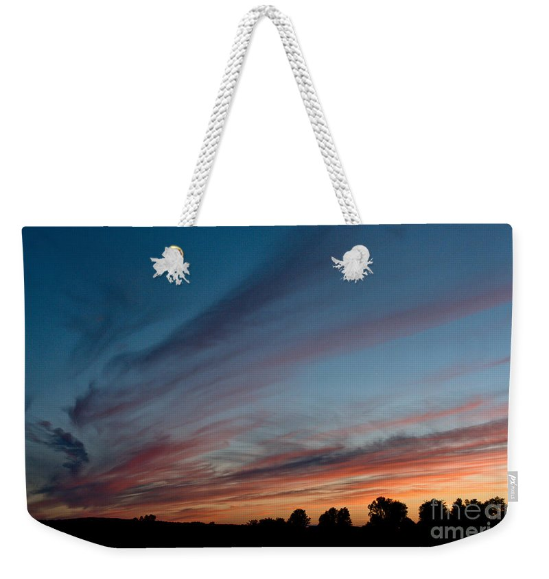 Sunset Weekender Tote Bag featuring the photograph Painted Sky by Cheryl Baxter
