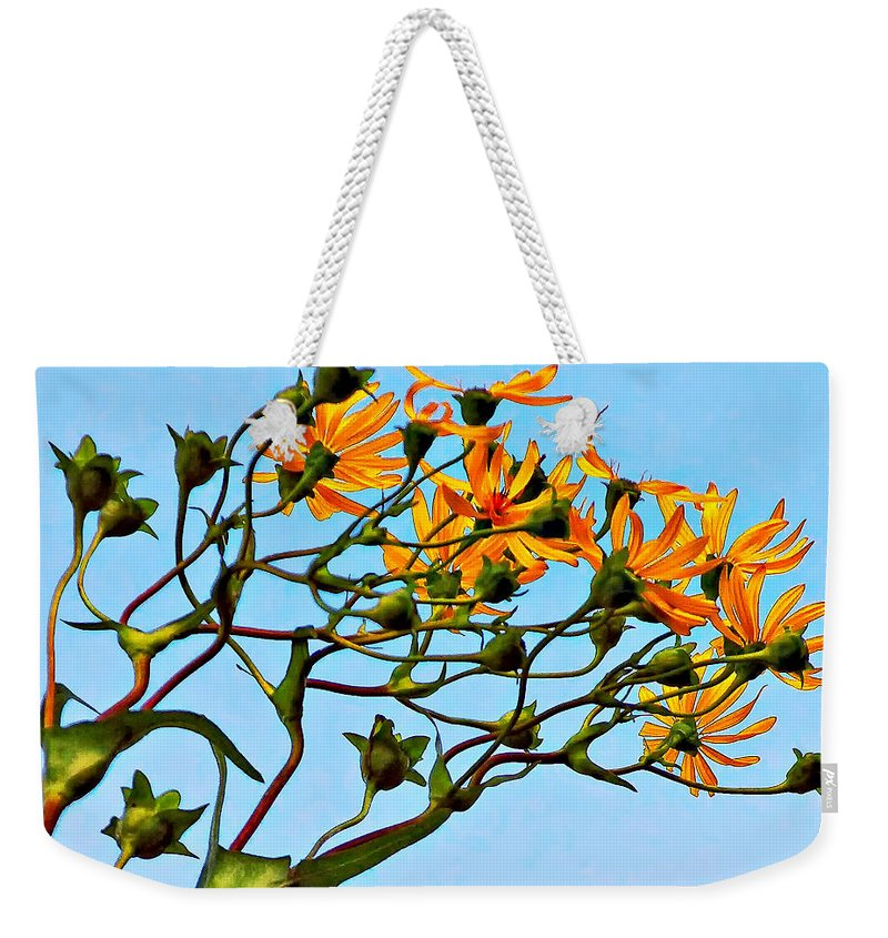 Flowers Weekender Tote Bag featuring the photograph Party Girls by Steve Harrington