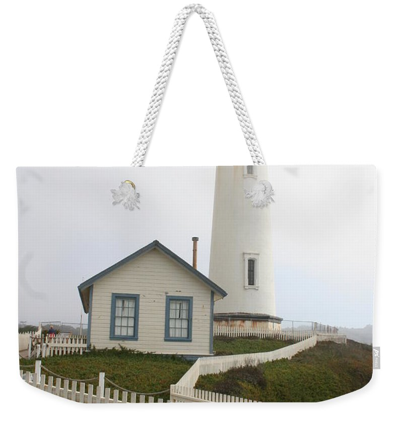 Lighthouse Weekender Tote Bag featuring the photograph Pigeon Point Light by Christiane Schulze Art And Photography