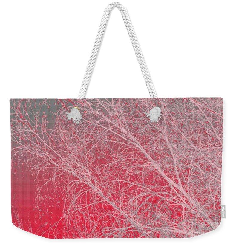Pink Weekender Tote Bag featuring the digital art Pink by Carol Lynch