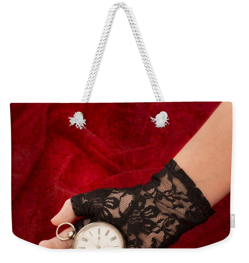 Girl Weekender Tote Bag featuring the photograph Pocket Watch by Amanda Elwell