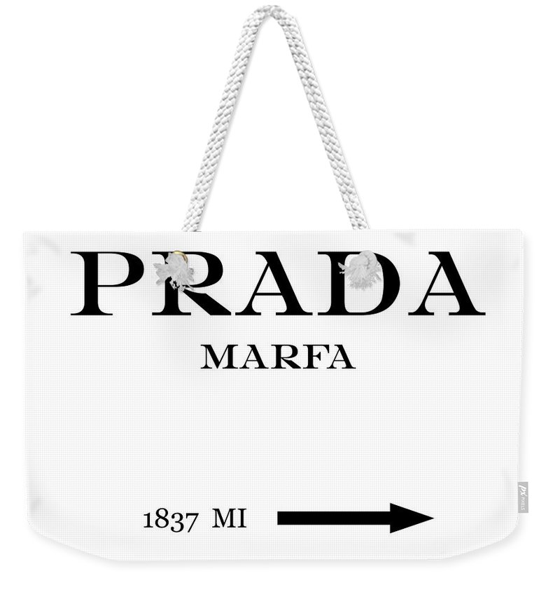 9eb0596d8e ... shopping prada weekender tote bag featuring the digital art prada marfa  mileage distance by voros edit