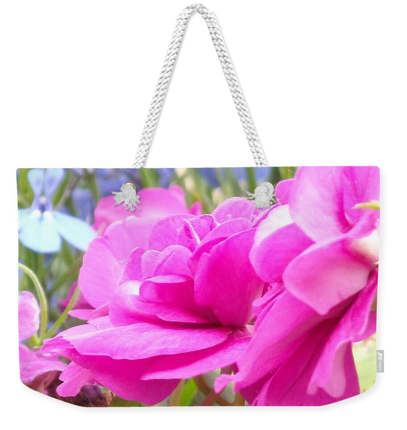 Flower Weekender Tote Bag featuring the photograph Pretty Pink Flower by Line Gagne
