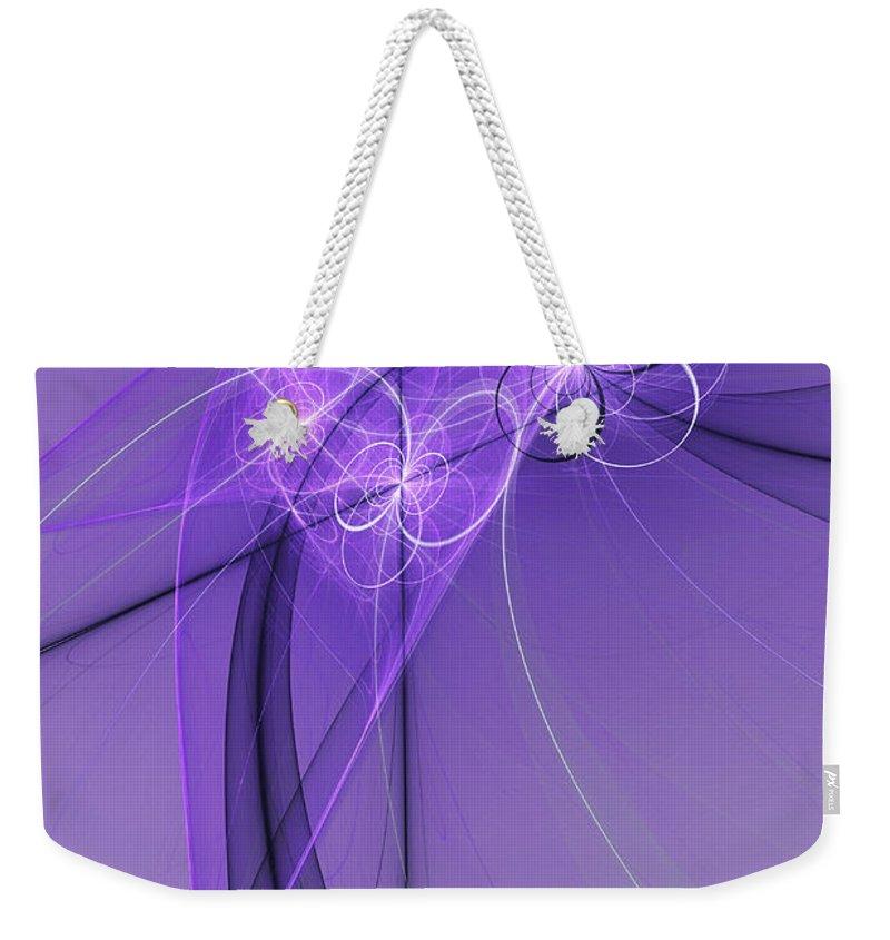 Digital Art Weekender Tote Bag featuring the digital art Purple Illusion by Gabiw Art