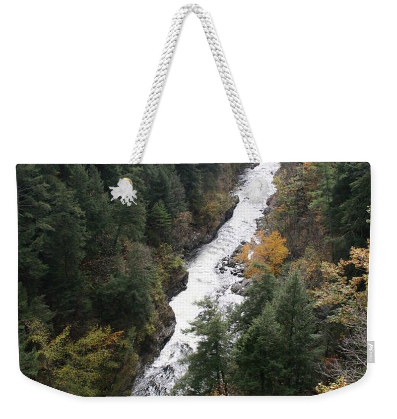 Quechee Gorge Weekender Tote Bag featuring the photograph Quechee Gorge by Christiane Schulze Art And Photography