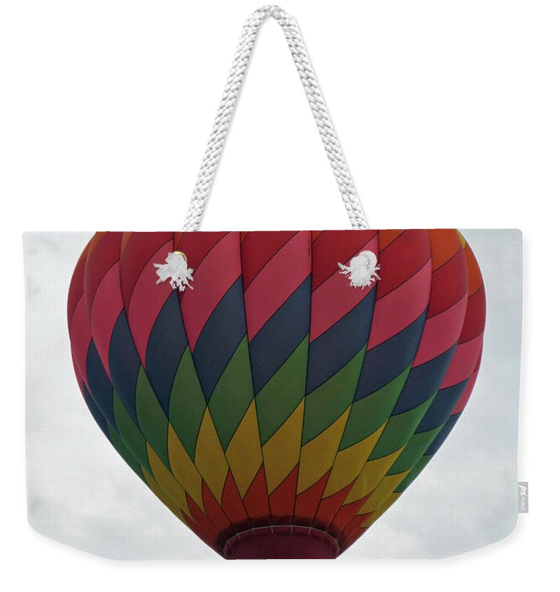 Hot Air Balloons Weekender Tote Bag featuring the photograph Rainbow Balloon by Jamie Smith