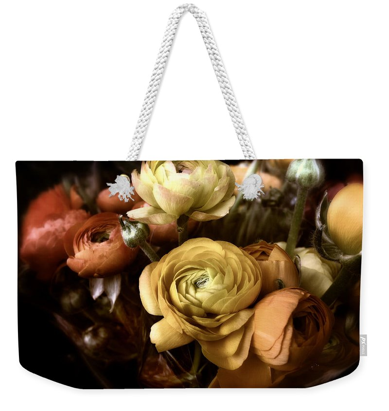 Flowers Weekender Tote Bag featuring the photograph Ranunculus by Jessica Jenney