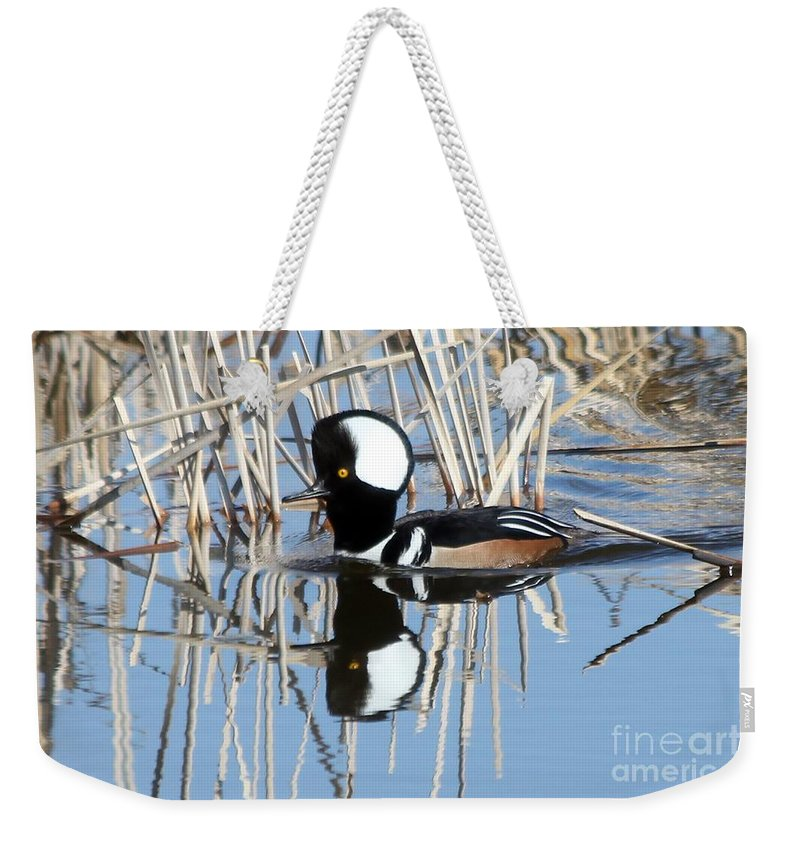 Hodded Weekender Tote Bag featuring the photograph Reflections by Lori Tordsen