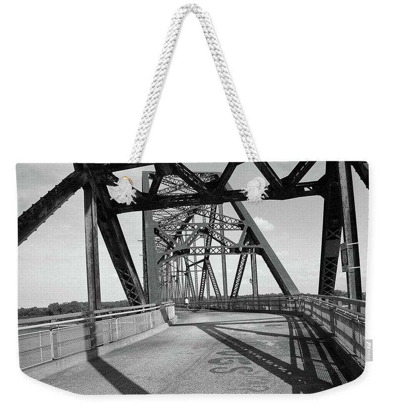 66 Weekender Tote Bag featuring the photograph Route 66 - Chain Of Rocks Bridge by Frank Romeo