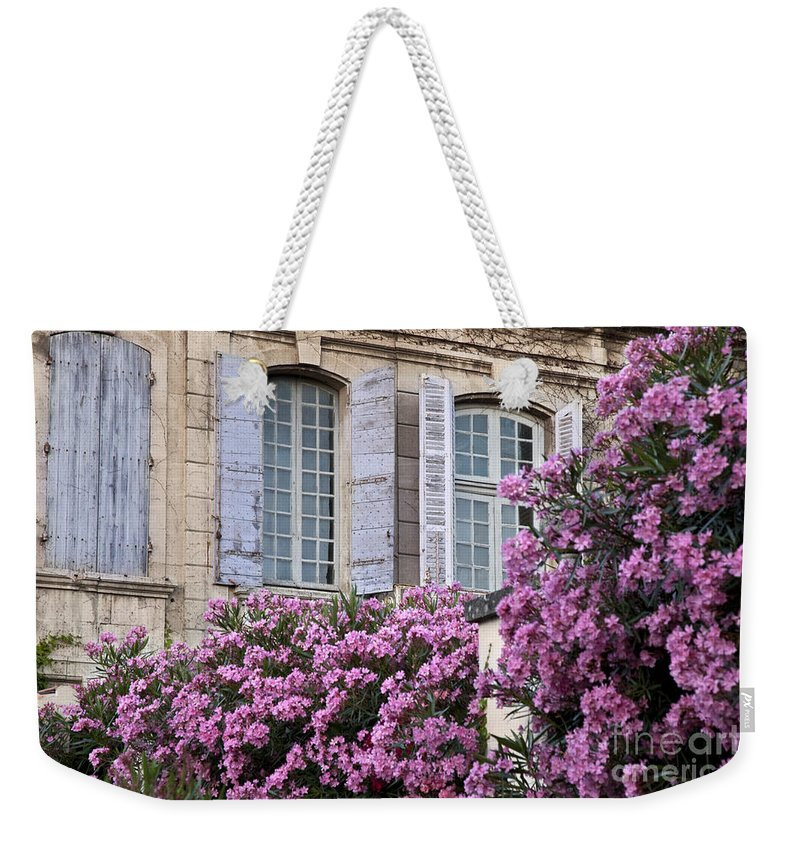 Purple Weekender Tote Bag featuring the photograph Saint Remy Windows by Brian Jannsen