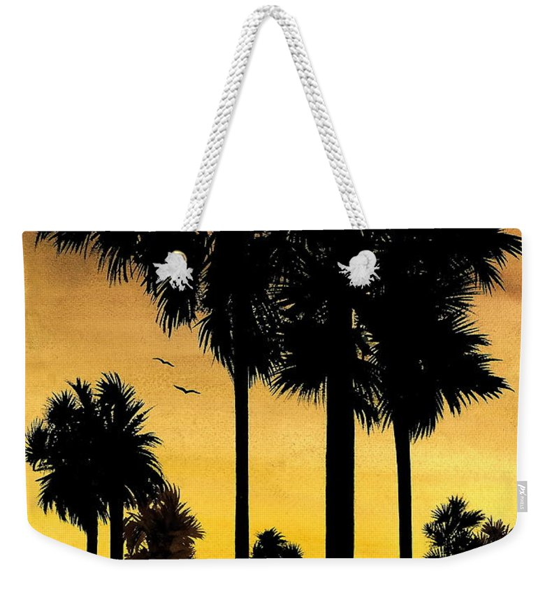 San Diego Sunset Weekender Tote Bag featuring the painting San Diego Sunset by Larry Lehman