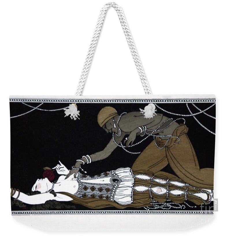 Ballet Weekender Tote Bag featuring the painting Scheherazade by Georges Barbier