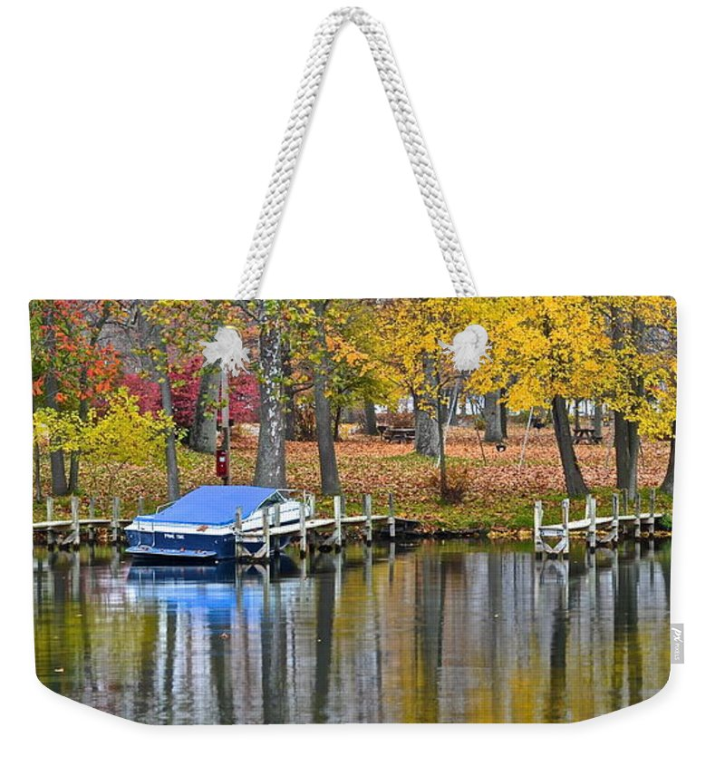 Season Weekender Tote Bag featuring the photograph Seasons End by Frozen in Time Fine Art Photography