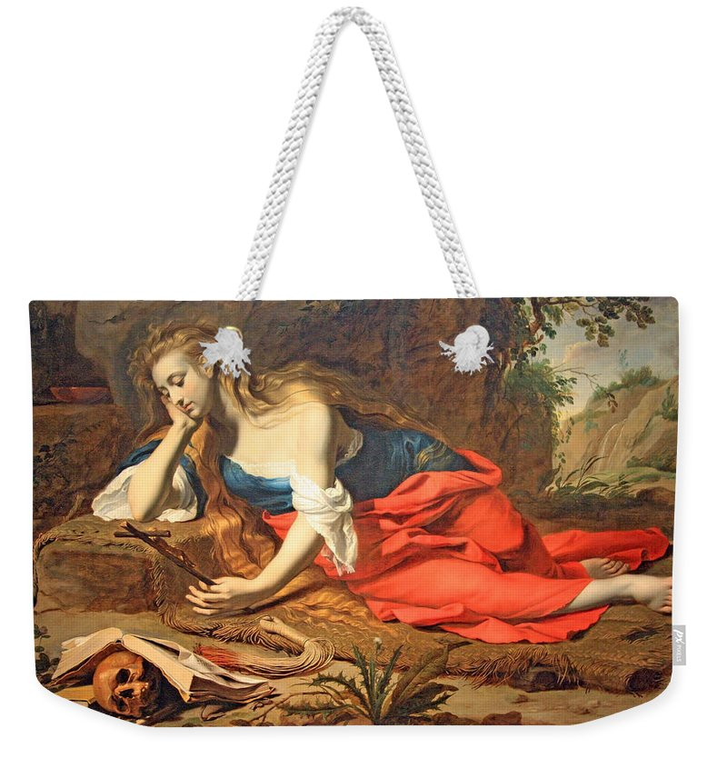 The Repentant Magdalen Weekender Tote Bag featuring the photograph Seghers' The Repentant Magdalen by Cora Wandel