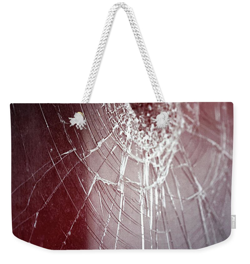 Afraid Weekender Tote Bag featuring the photograph Shattered Dreams by Trish Mistric