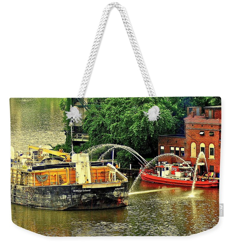 Ship Weekender Tote Bag featuring the photograph Ship Shape by Frozen in Time Fine Art Photography
