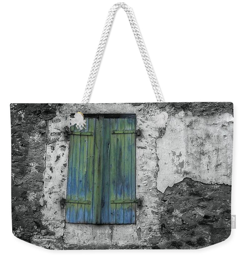 Abstract Weekender Tote Bag featuring the photograph Shut by Lauren Leigh Hunter Fine Art Photography