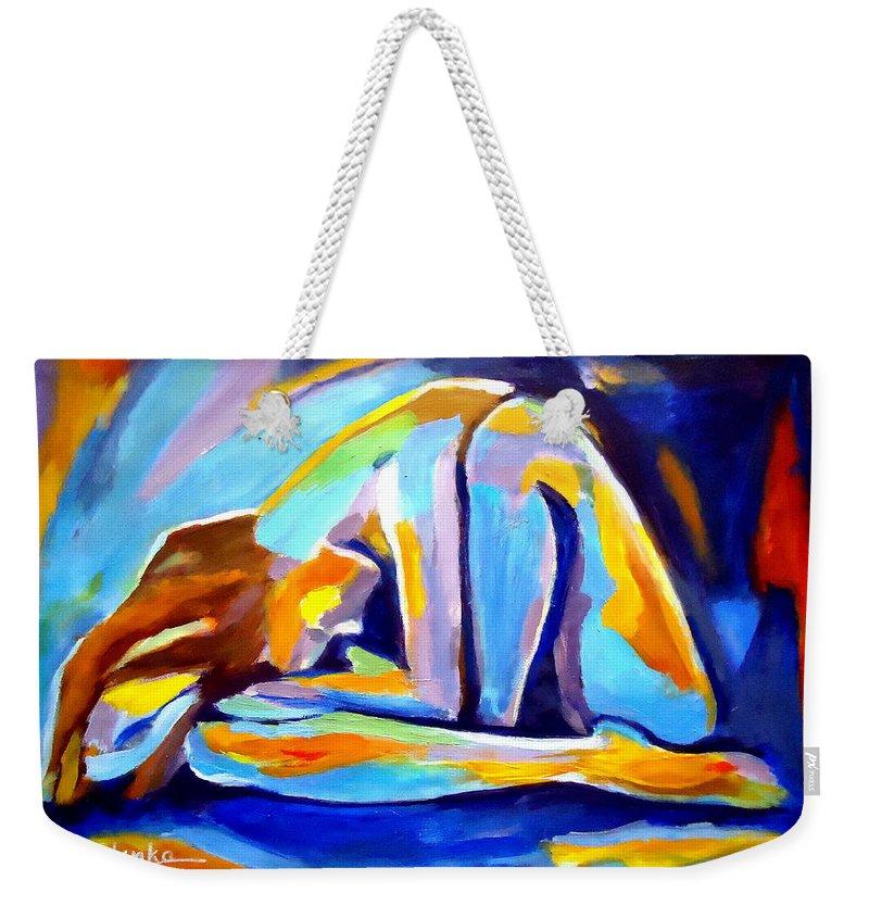 Nude Figures Weekender Tote Bag featuring the painting Sleepless by Helena Wierzbicki