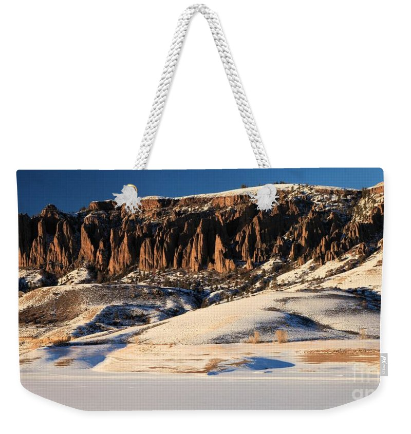 Dillon Pinnacles Weekender Tote Bag featuring the photograph Soft Light by Adam Jewell
