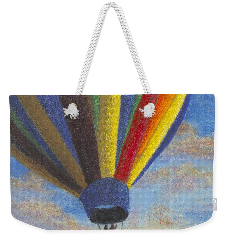 Hot Air Balloons Weekender Tote Bag featuring the painting South By Southwest by Garry McMichael